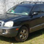 Black 2005 Hyundai Santa Fe 3.5L V6